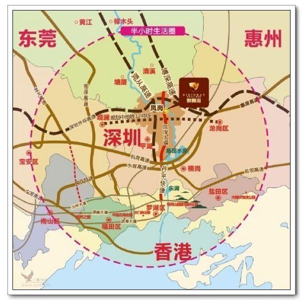 深圳东莞各镇地图