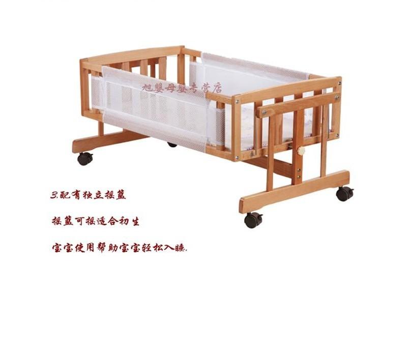 全新原木小天使婴儿床低于半价转让
