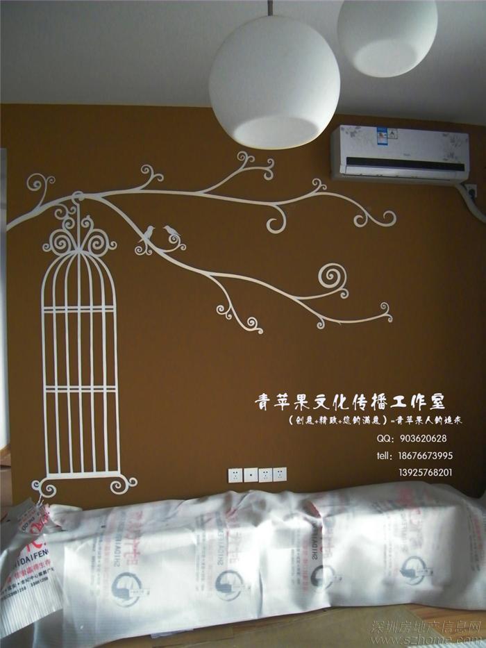 复古室内墙绘素材