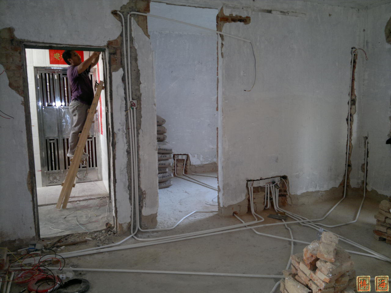 电路布线-客厅