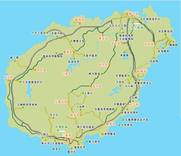 海南到深圳地图