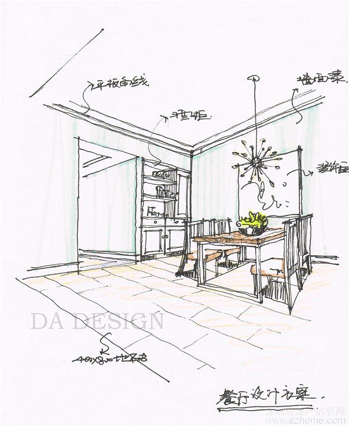 餐厅欧式手绘图_餐厅欧式手绘图分享展示