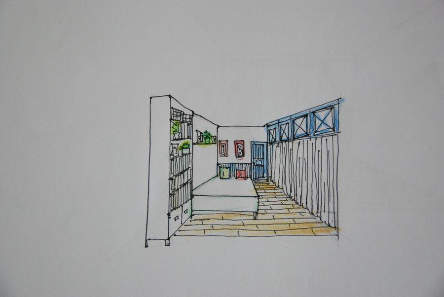 小卧室手绘图