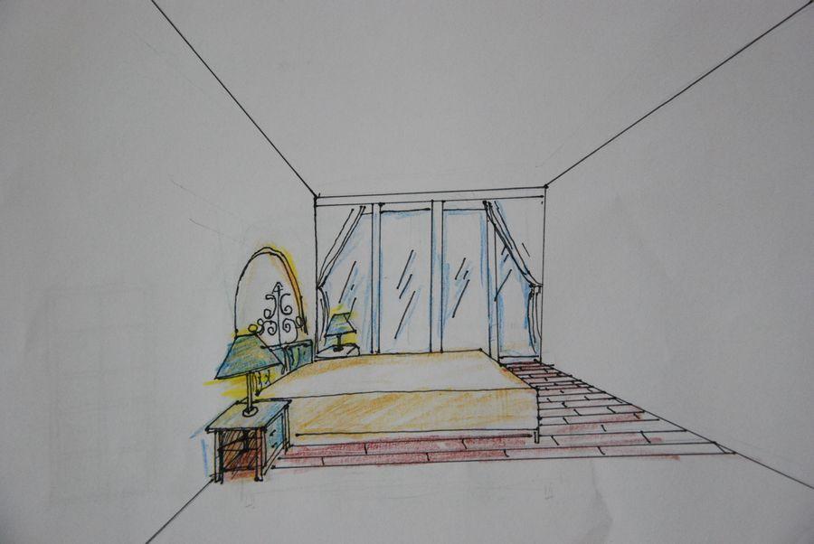 次卧手绘图