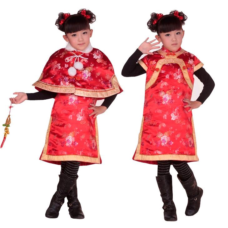 儿童唐装棉衣 夹棉棉袄旗袍