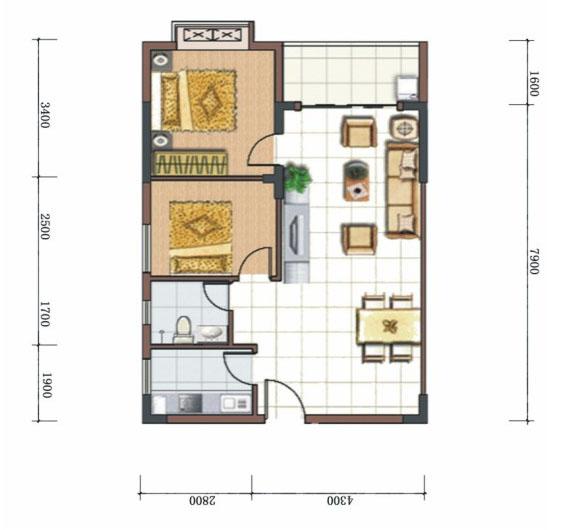 十平米小房间设计图卧室图片