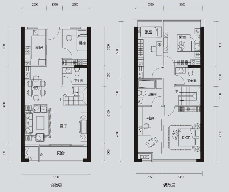 农村60长方形房子设计平面图