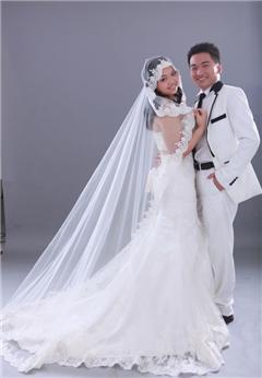 婚纱手绘鱼尾裙